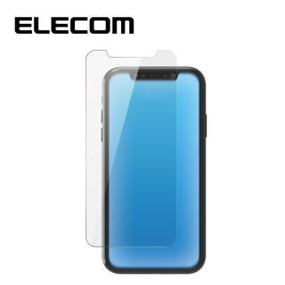 iPhone 11/XR フィルム エレコム 強化ガラス 9H BL 指紋防止 エアーレス 0.33mm iPhone 11/XR