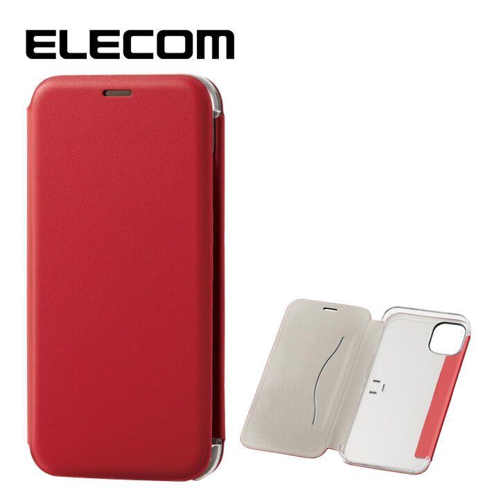 iPhone 11 ケース エレコム 3つ折り レザー手帳型薄型ケース カード収納 レッド iPhone 11_0