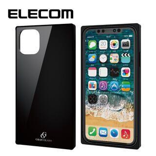 iPhone 11 ケース エレコム スクエア ガラス TPU ハイブリッドケース ブラック1 iPhone 11