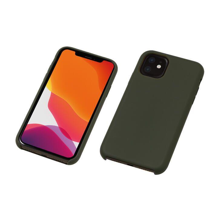 iPhone 11 ケース CRYTONE Hybrid Silicone Hard Case ハイブリッドケース ダークオリーブ iPhone 11_0