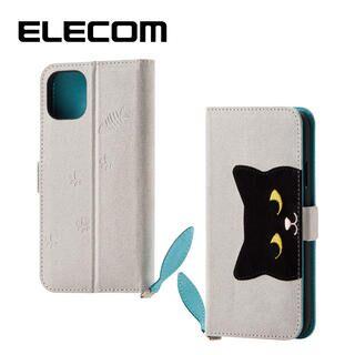 iPhone 11 ケース エレコム おしゃれ ネコ手帳型TPUケース グレー iPhone 11
