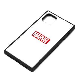 iPhone 11 Pro Max ケース MARVEL ガラスハイブリッドケース ロゴ/ホワイト iPhone 11 Pro Max