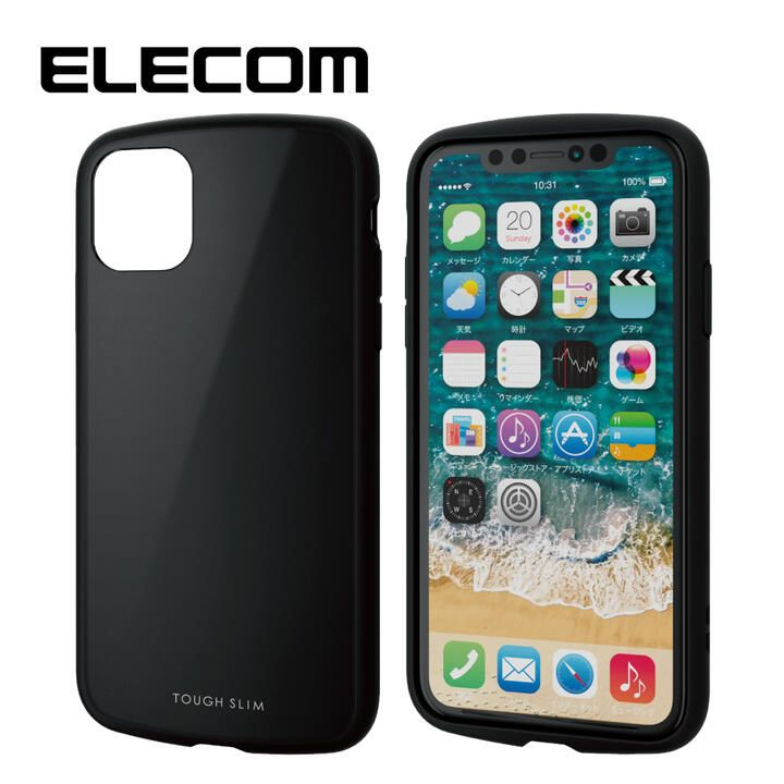 iPhone 11 ケース エレコム TOUGH SLIM LITE 衝撃吸収ケース ブラック iPhone 11_0