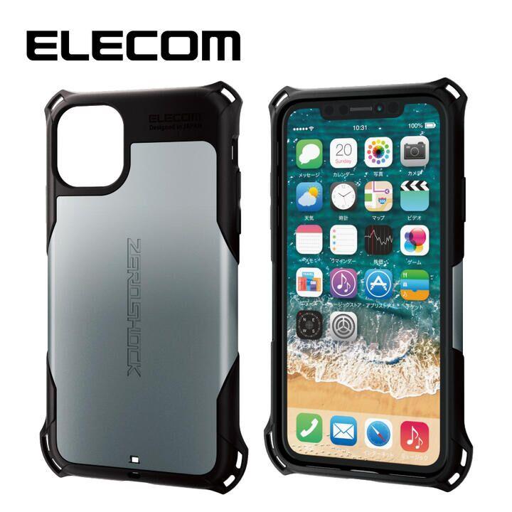 iPhone 11 ケース エレコム ZEROSHOCK 耐衝撃ケース シルバー iPhone 11_0