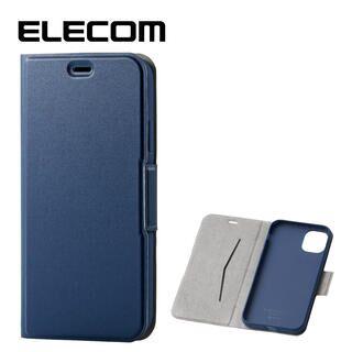 iPhone 11 ケース エレコム ウルトラスリムタイプ ソフト手帳型レザーケース ネイビー iPhone 11