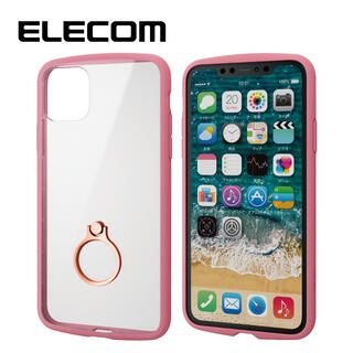 iPhone 11 Pro Max ケース エレコム TOUGH SLIM LITE リング 衝撃吸収ケース ピンク iPhone 11 Pro Max