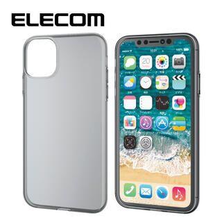 iPhone 11 ケース エレコム ソフトクリアTPU薄型ケース 0.7mm ブラック iPhone 11