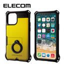 エレコム リング付き ZEROSHOCK 超耐衝撃ケース イエロー iPhone 11 Pro