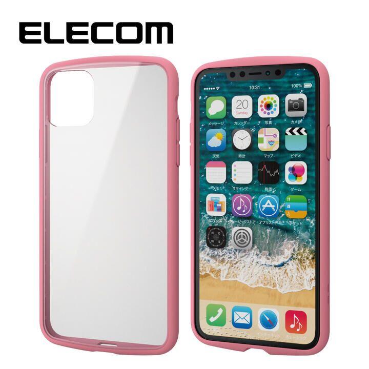 iPhone 11 Pro Max ケース エレコム TOUGH SLIM LITE 衝撃吸収ケース クリアピンク iPhone 11 Pro Max_0