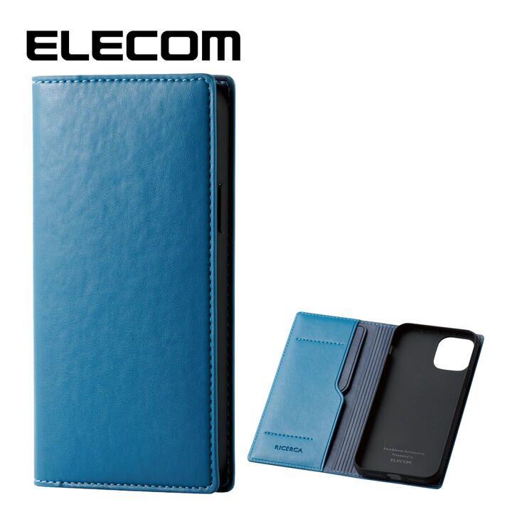 iPhone 11 Pro ケース エレコム レザー手帳型 CORONET 耐衝撃 カード収納 フレンチブルー iPhone 11 Pro_0