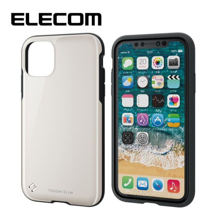 iPhone 11 ケース エレコム TOUGH SLIM 衝撃吸収ケース ホワイト iPhone 11_0
