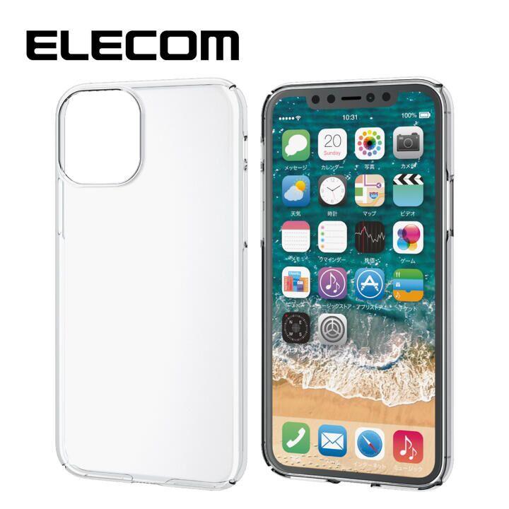 iPhone 11 Pro ケース エレコム 軽量 薄型 0.8mm クリアハードケース クリア iPhone 11 Pro_0