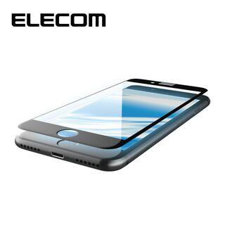iPhone8/7/6s/6 フィルム エレコム 超最強強化 強化ガラス硬度9H セラミックコート/全面BLカット iPhone 8/7/6s/6