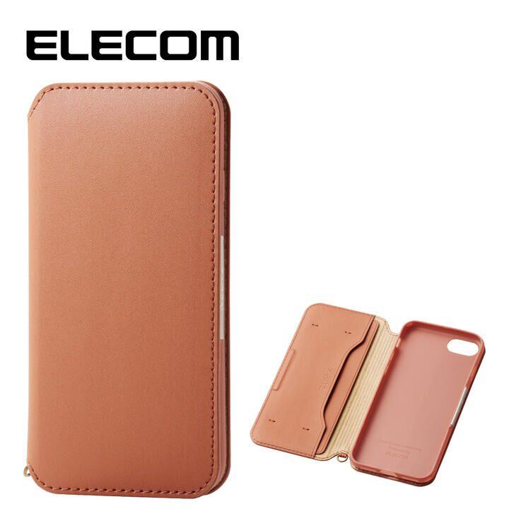 iPhone8/7 ケース エレコム NEUTZ レザー手帳型ケース  耐衝撃 カード収納 ブラウン iPhone 8/7_0