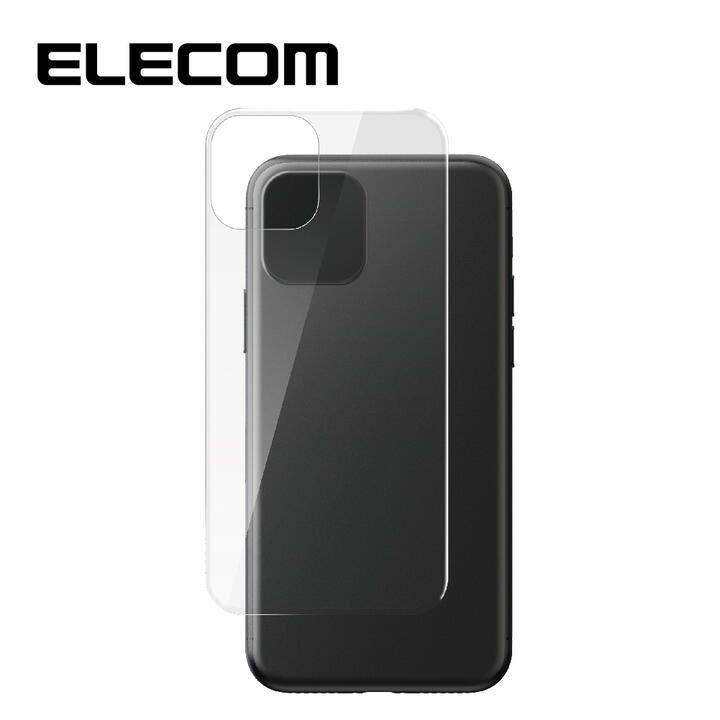 iPhone 11/XR フィルム エレコム 背面強化ガラス 9H 指紋防止 気泡ゼロ クリア iPhone 11/XR_0