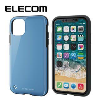 iPhone 11 ケース エレコム TOUGH SLIM 衝撃吸収ケース ブルー iPhone 11