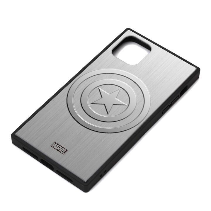 iPhone 11 Pro Max ケース MARVEL ガラスハイブリッドケース キャプテン・アメリカ/シルバー iPhone 11 Pro Max_0