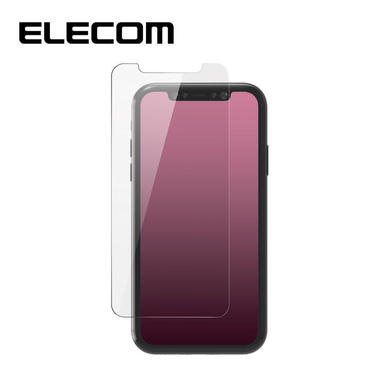 iPhone 11/XR フィルム エレコム 保護フィルム ガラスライク 極薄 0.2mm 指紋防止 高光沢 iPhone 11/XR_0