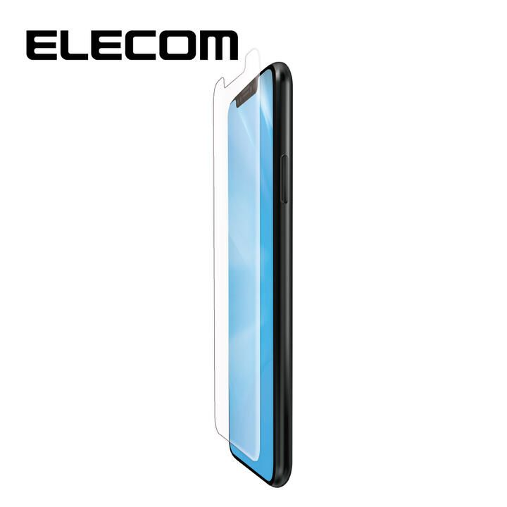 iPhone 11/XR フィルム エレコム フルカバー超耐衝撃保護フィルム BL 指紋防止 高光沢 透明 iPhone 11/XR_0