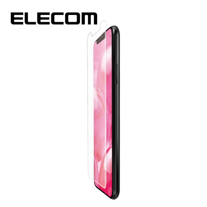 iPhone 11/XR フィルム エレコム フルカバー超耐衝撃保護フィルム 指紋防止 高光沢 透明 iPhone 11/XR_0