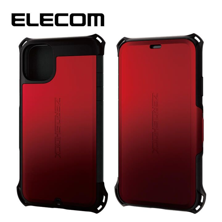 iPhone 11 ケース エレコム 手帳型 衝撃吸収 SIM カード / ピン収納 レッド iPhone 11_0