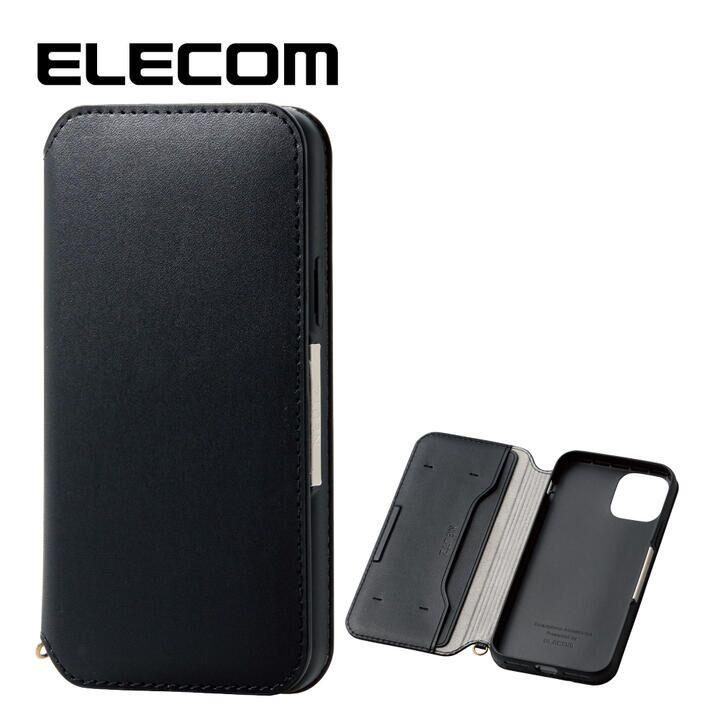 iPhone 11 Pro ケース エレコム NEUTZ レザー手帳型ケース  耐衝撃 カード収納 ブラック iPhone 11 Pro_0