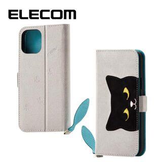 iPhone 11 Pro ケース エレコム おしゃれ ネコ手帳型TPUケース グレー iPhone 11 Pro
