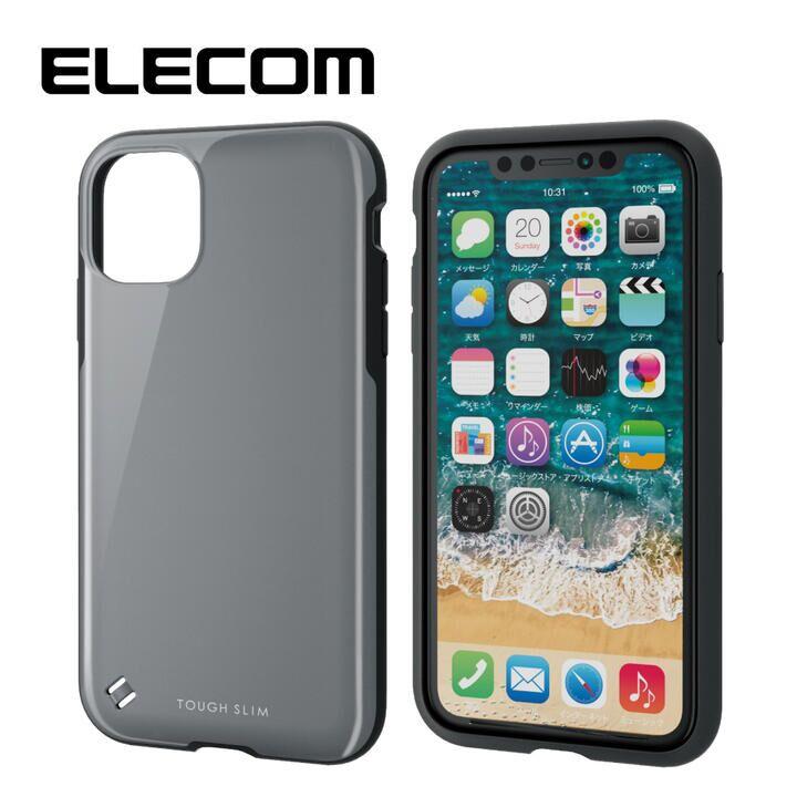 iPhone 11 ケース エレコム TOUGH SLIM 衝撃吸収ケース グレー iPhone 11_0