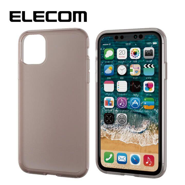 iPhone 11 ケース エレコム シリコンPCハイブリッドケース ブラック iPhone 11_0