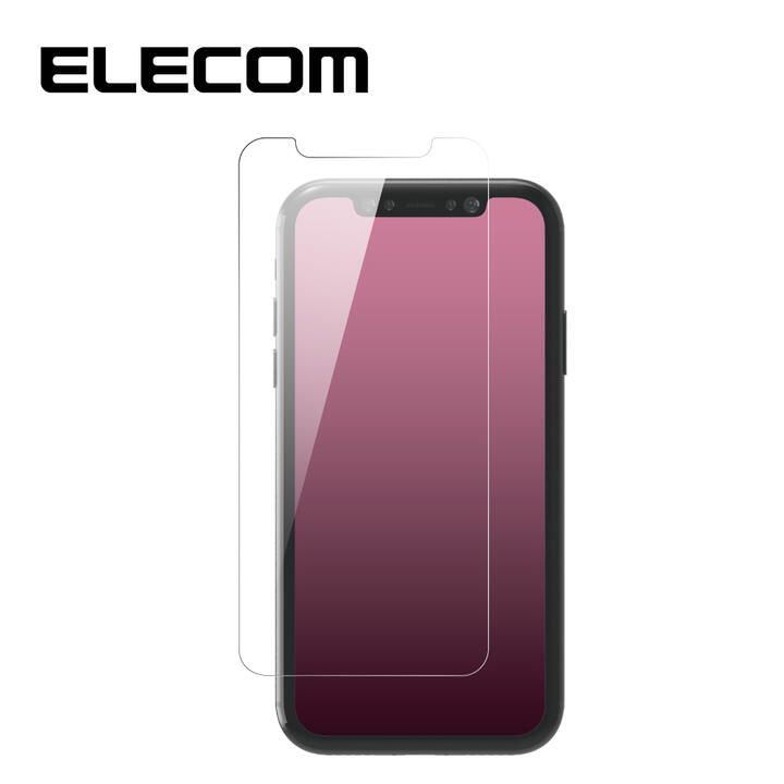iPhone XR フィルム エレコム 超強化 強化ガラス硬度9H 全面 指紋防止 iPhone 11/XR_0