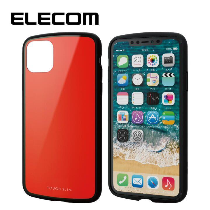iPhone 11 Pro Max ケース エレコム TOUGH SLIM LITE 衝撃吸収ケース レッド iPhone 11 Pro Max_0