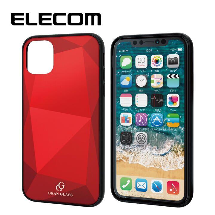 iPhone 11 ケース エレコム 3種構造 ハイブリッドケース レッド iPhone 11_0