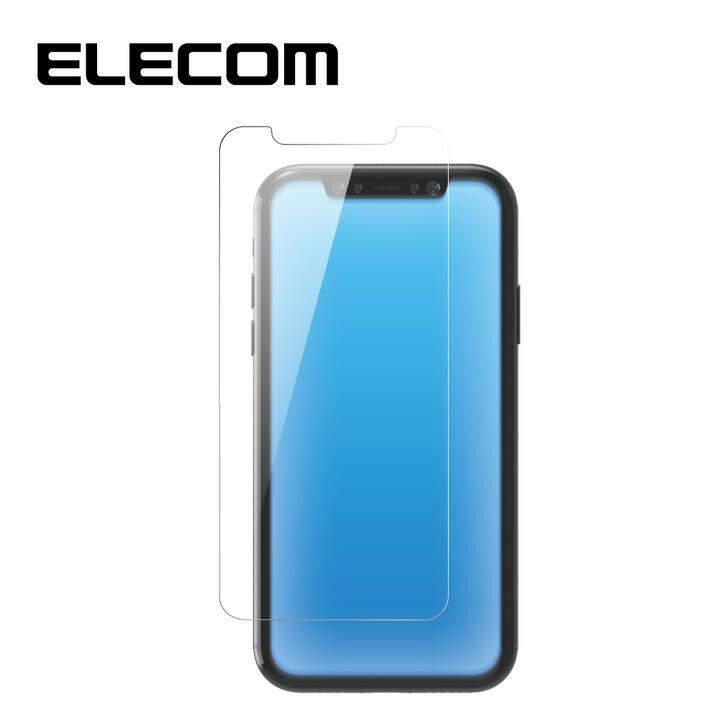 iPhone XR フィルム エレコム 強化ガラス 9H ブルーライトカット 指紋防止 iPhone 11/XR_0