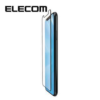 iPhone 11/XR フィルム エレコム フルカバー超耐衝撃保護フィルム BL 指紋防止 高光沢 ブラック iPhone 11/XR