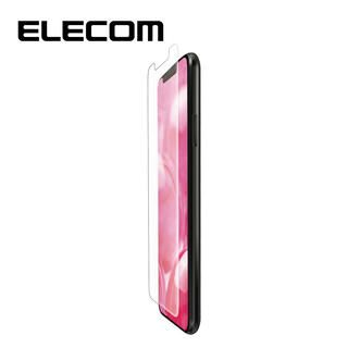 iPhone 11/XR フィルム エレコム フルカバー超耐衝撃保護フィルム 指紋防止 透明 専用ヘラ iPhone 11/XR