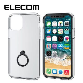 iPhone 11 Pro ケース エレコム リング付耐衝撃ハイブリッドケース ブラック iPhone 11 Pro