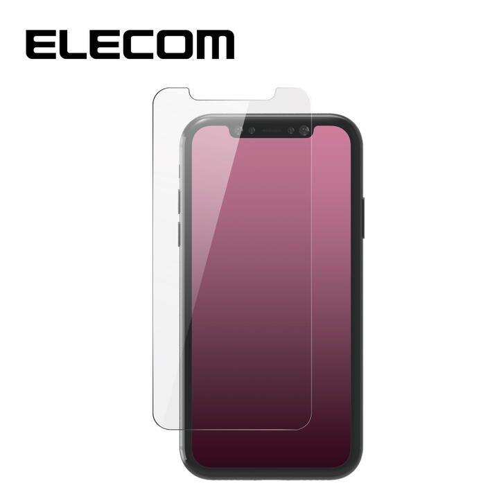 iPhone XR フィルム エレコム 超強化 強化ガラス硬度9H 指紋防止 エアーレス iPhone 11/XR_0