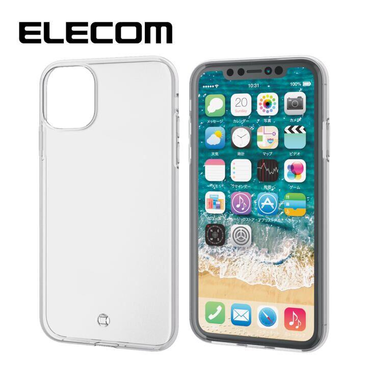 iPhone 11 ケース エレコム ストラップホール クリアソフトケース クリア iPhone 11_0