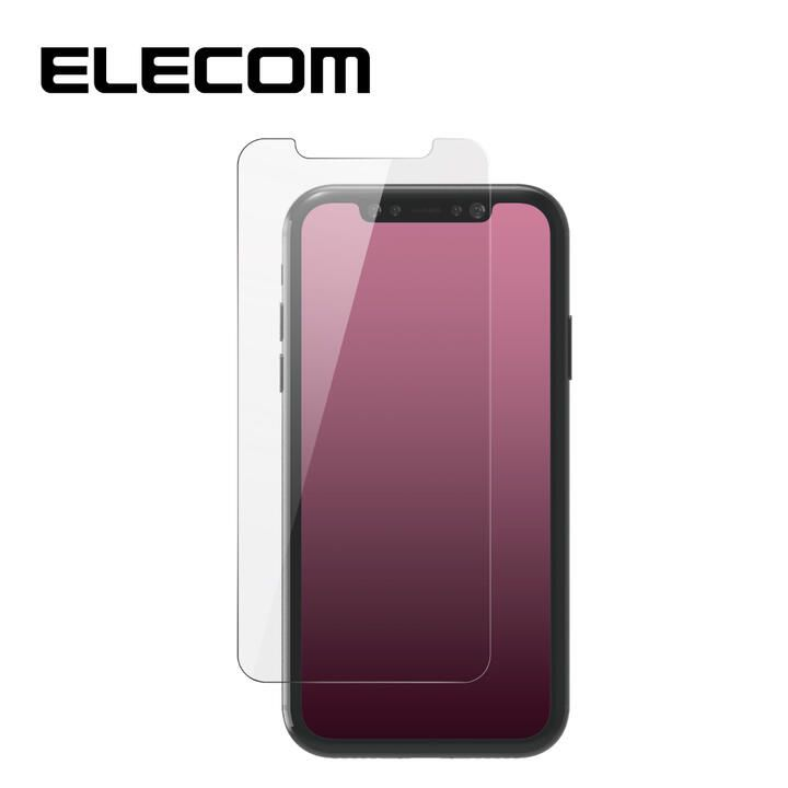 iPhone 11/XR フィルム エレコム 強化ガラス 9H 指紋防止  エアーレス 0.33mm iPhone 11/XR_0