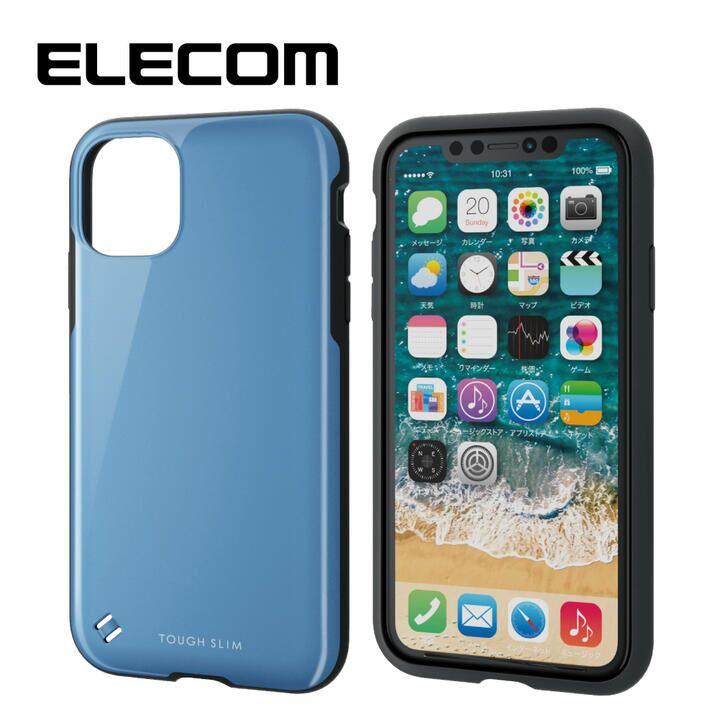 iPhone 11 ケース エレコム TOUGH SLIM 衝撃吸収ケース ブルー iPhone 11_0