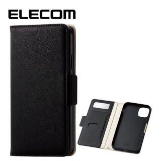 iPhone 11 ケース エレコム ミラー付き ICカード収納 手帳型ケース ブラック iPhone 11