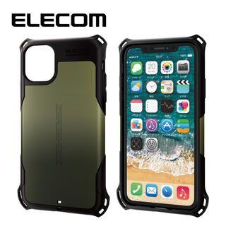 iPhone 11 ケース エレコム ZEROSHOCK 耐衝撃ケース カーキ iPhone 11