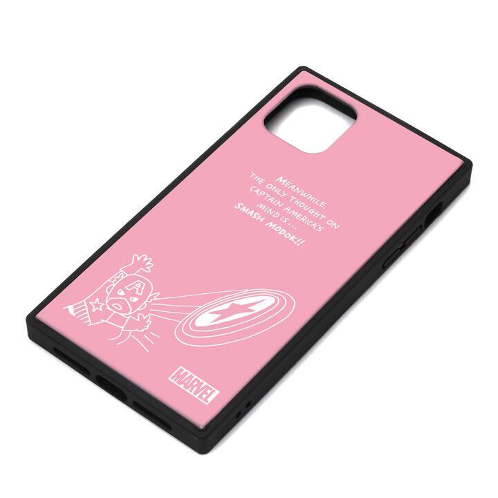 iPhone 11 Pro Max ケース MARVEL ガラスハイブリッドケース キャプテン・アメリカ/ピンク iPhone 11 Pro Max_0