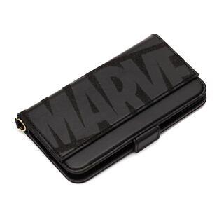 iPhone 11 ケース MARVEL ダブルフリップカバー ロゴ/ブラック iPhone 11