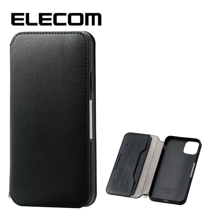 iPhone 11 Pro Max ケース エレコム NEUTZ レザー手帳型ケース  耐衝撃 カード収納 ブラック iPhone 11 Pro Max_0