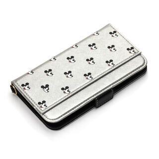 iPhone 11 ケース ディズニー ダブルフリップカバー ミッキーマウス/シルバー iPhone 11【9月中旬】