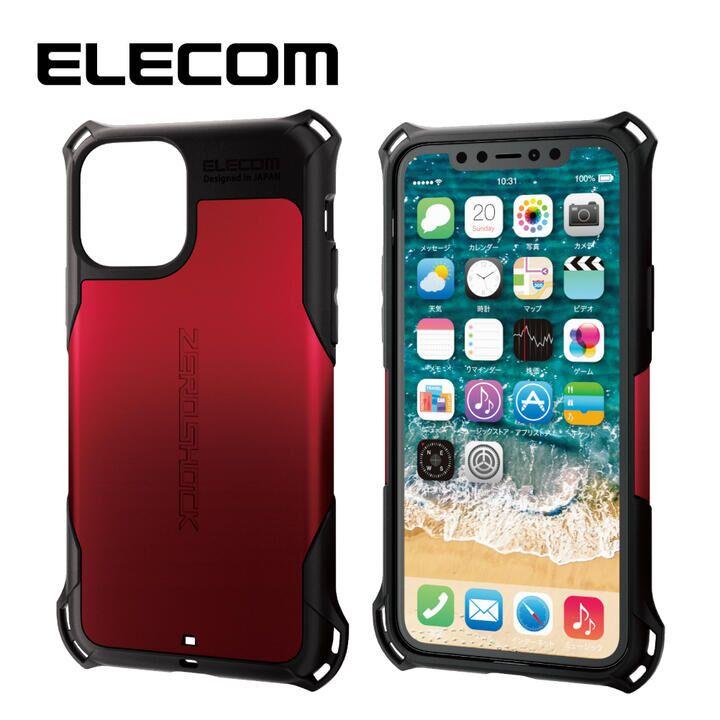 iPhone 11 Pro ケース エレコム ZEROSHOCK 耐衝撃ケース レッド iPhone 11 Pro_0