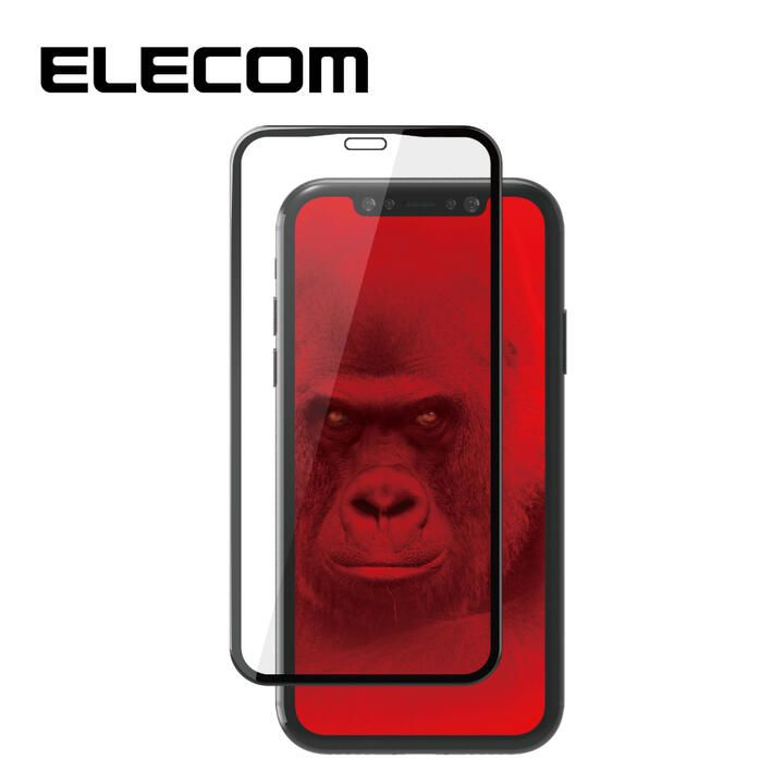 iPhone XR フィルム エレコム 超強化 強化ガラス硬度9H 全面 指紋防止 ゴリラ iPhone 11/XR_0