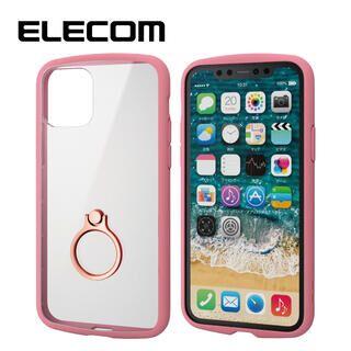 iPhone 11 Pro ケース エレコム TOUGH SLIM LITE リング 衝撃吸収ケース クリアピンク iPhone 11 Pro