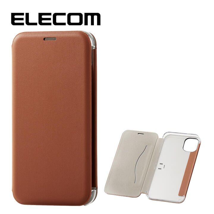 iPhone 11 ケース エレコム 3つ折り レザー手帳型薄型ケース カード収納 ブラウン iPhone 11_0